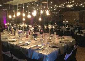 Wedding table at Starfire Event Center